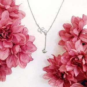 Sweet and Dainty Bird and Leaf Choker Necklace